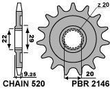 PIGNONE PBR Z13 P520 KAWASAKI 21461318NC