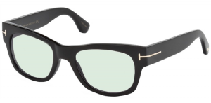 Tom Ford - Private Collection - Occhiale da Sole Unisex, TOM N.2, Matte Black Horn/Light Grey Shaded Photochromic   FT0487-P  (63A)  C53