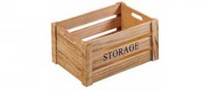 Cassetta porta pane in legno Storage con manici cm.26x16x13,5h