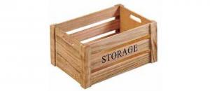Cassetta porta pane in legno Storage con manici cm.30x19x16h
