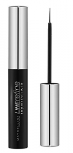 Maybelline New York Liquid Eyeliner Black/Liquido Eyeliner Nero Intenso (termine, massima precisione)