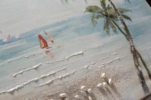 Dipinto a mano Tropical beach