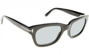 Tom Ford - Private Collection - Occhiale da Sole Unisex, TOM N.5, Black Horn/Light Blu Shaded  FT5439-P  (63N)  C50