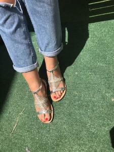 Sandalo argento con strass Numeri 36, 39, 40