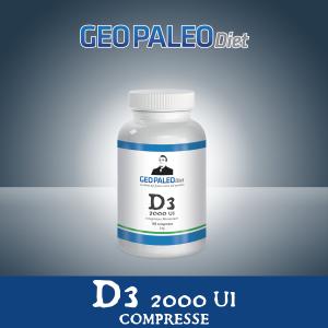 OFFERTA 26+4 Vitamina D3 Alto Dosaggio 2000 UI in mini-compresse - Senza Biossido di Titanio/Silicio