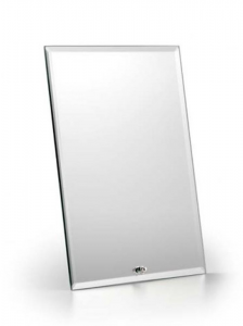 Specchio rettangolare con supporto verticale cm.14x1,5x19h
