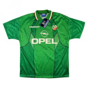1995-96 Irlanda Maglia Home L *Cartellino