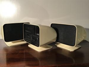 RADIO - AMPLIFICATORE CALYPSO DELUXE TCM - BROWNI del 1970 + CASSE