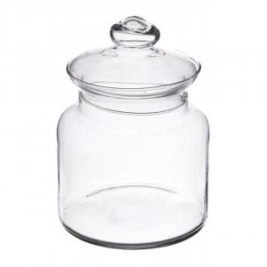 Biscottiera porta caramelle in vetro cm.28h diam.18,5