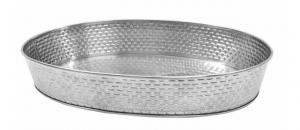 Vassoio ovale in acciaio Inox cm.31x22x5,2h