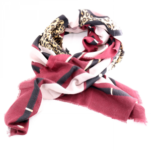 Headscarf Liu Jo LOGO ANIMALIER 269065 T0300 DARK RED