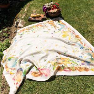 Tovaglia quadrata 170x170 cm Tessitura Toscana Telerie puro lino FATTORIA