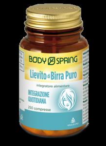 BODY SPRING LIEVITO DI BIRRA PURO 250 COMPRESSE