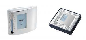 Sveglia termometro lux box in silver plated