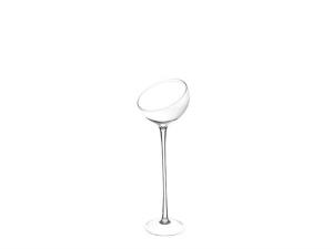 Vaso Coppa inclinata alta in vetro cm.50h diam.19,5