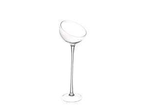 Vaso Coppa inclinata alta in vetro cm.67h diam.19,5
