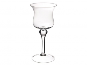 Vaso Calice in vetro cm.33h diam.16