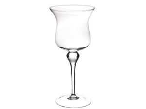 Vaso Calice in vetro cm.38h diam.17,5
