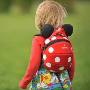 Zainetto bimba con rendinella Littlelife Minnie Disney Rosso, 1-3 anni