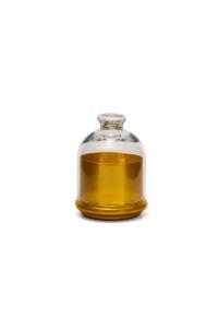 Scatola in vetro, con coperchio, base colore Oro cm.12,5h diam.10