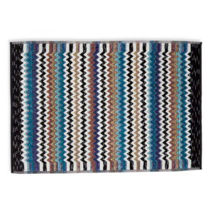 Missoni Home PAUL 170 tappeto bagno 60x90 cm zig-zag nero-turchese