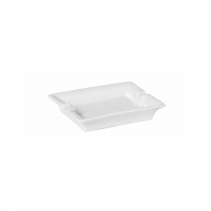 Posacenere rettangolare in porcellana bianca cm.11,5x10x2,5h
