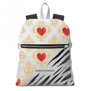 Backpack Alviero Rodriguez BIANCO ROYAL ZEBRINE Backpack BRZ Unico