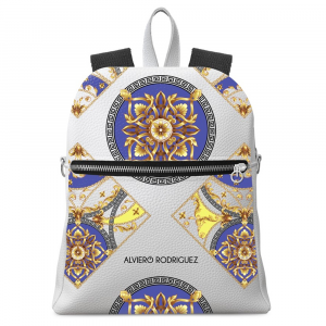 Backpack Alviero Rodriguez BIANCO ROYAL BLUE Backpack BRB Unico