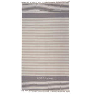 Cotton beach towel 90x160 cm BORBONESE Antibes brown