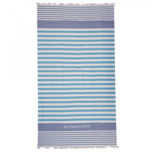 Cotton beach towel 90x160 cm BORBONESE Antibes bluette