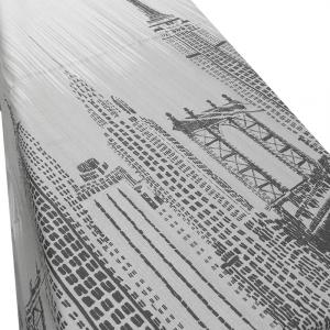 Quadratische Tagesdecke aus Baumwolle VALLESUSA SKYLINE Stahl