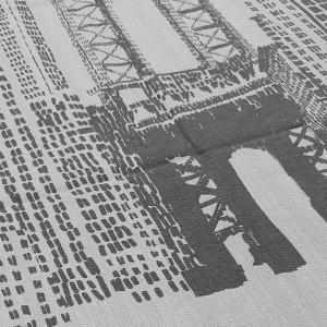 Single square cotton bedspread VALLESUSA SKYLINE steel