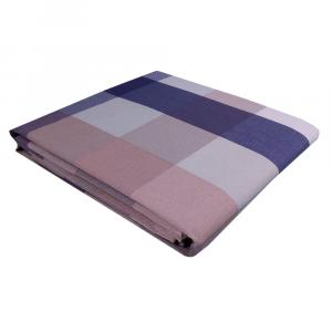 VALLESUSA WILSON double bed cotton bedspread gray squares