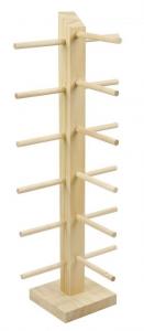 Espositore da banco in legno per portachiavi cm.11,5x17,5x43h