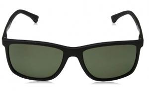 Emporio Armani - Occhiale da Sole Uomo, Black Rubber/Green Shaded  EA4058  5653/9A  C58