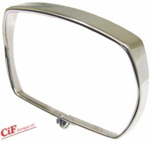 7350-C CORNICE FANALE ANTERIORE PIAGGIO VESPA 50 SPECIAL IN ACCIAIO INOX