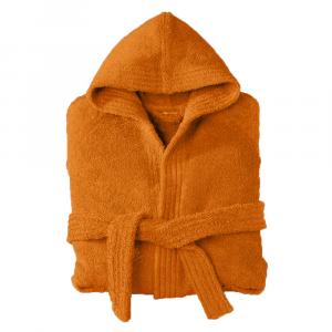 Accappatoio con cappuccio in Spugna Happidea UNISEX - XL arancione