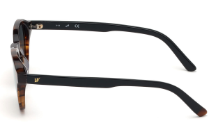 Web - Occhiale da Sole Uomo, Dark Havana/Grey Smoke Gradient  WE0250  56C  C50