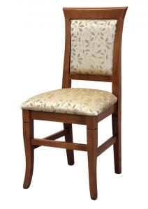 Sedia classica imbottita struttura legno di faggio