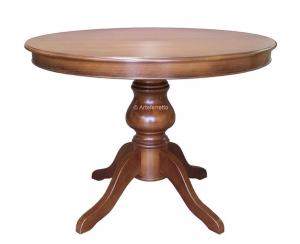Tavolo rotondo allungabile Luigi Filippo diametro 110 cm