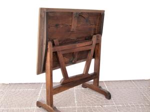 Tavolino vintage pieghevole '800