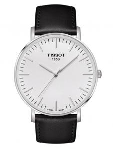 Orologio TISSOT Everytime  Cassa in acciaio 316 L con cinturino in pelle nero T109.610.16.031.00