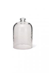 Campana Cloche in vetro alta martellata per dolci cm.17h diam.11