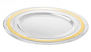 Sottopiatto in vetro con fascia oro cm.diam.32