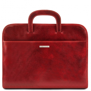 Tuscany Leather TL141022 Sorrento - Cartella portadocumenti in pelle Rosso