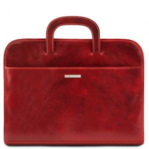 Tuscany Leather TL141022 Sorrento - Cartella portadocumenti in pelle Rosso