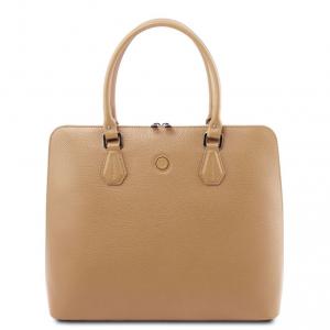 Tuscany Leather TL141809 Magnolia - Borsa business in pelle per donna Champagne