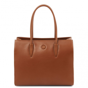 Tuscany Leather TL141810 Orchidea - Borsa a spalla in pelle Cognac