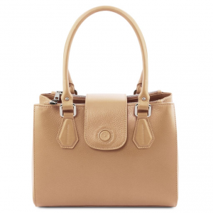 Tuscany Leather TL141811 Fiordaliso - Borsa a mano in pelle Champagne