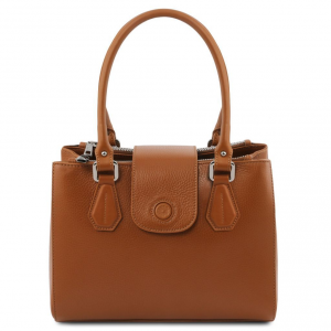 Tuscany Leather TL141811 Fiordaliso - Borsa a mano in pelle Cognac